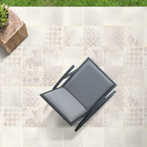 carrelage terracota blanc 20x20 cm