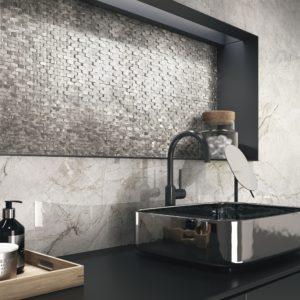 mosaïque globe halley sylver en aluminium
