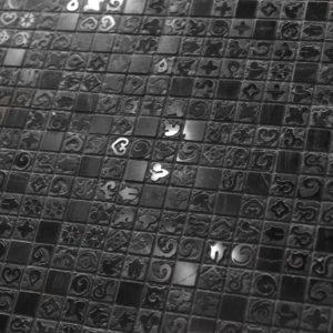 mosaïque hammam 30,4×30,5 cm en pierre naturelle