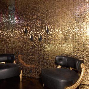 mosaïque metal gold