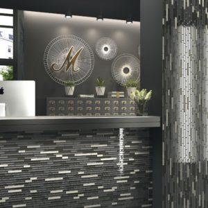 mosaïque naomi mélange pierre et verre