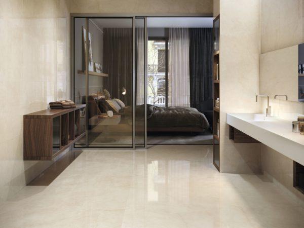 Carrelage cream chamber aspect marbre ba