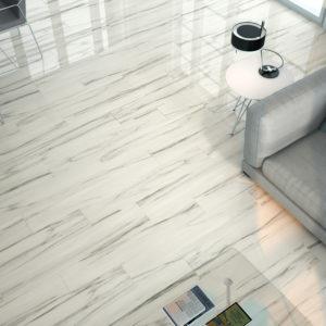 carrelage calcutta aspect marbre par baldocer