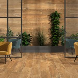 carrelage berna pour intérieur aspect bois ecoceramic