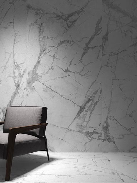 carrelage blanc invisible par living ceramics