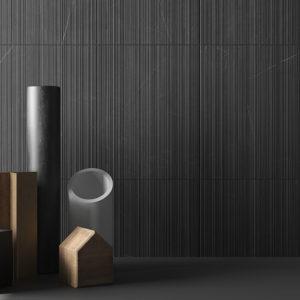 faïence allure wall anthracite par living ceramics