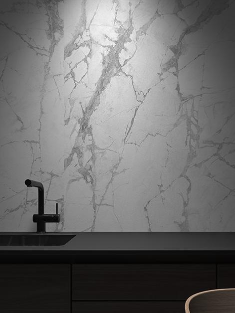 faïence blanc invisible aspect marbre