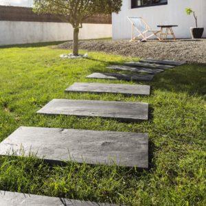 ardoise carré noir en pierre naturelle par cupastone