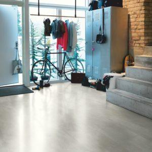 béton gris chaleureux revêtement de sol en vinyl par pergo