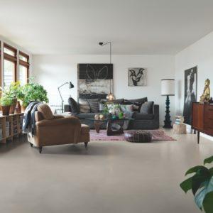 beton doux greige revêtement de sol en vinyl par pergo