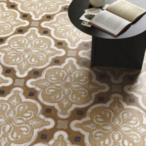 carrelage intérieur intarsi elite mélange de bois et de marbre par sant'agostino