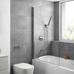 Paroi de douche HEAVEN BATH battantes pour baignoire Paillettes Transparentes 900 x 1400 mm salgar