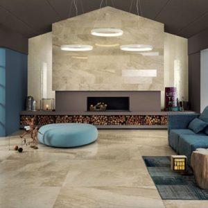 carrelage beige expérience pour intérieur aspect marbre par italgraniti
