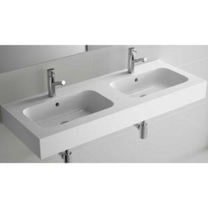 Vasque ESCOCIA 1205 double MINERALMARMO 1205 x 128 x 460 mm