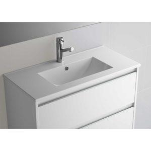 Vasque Fond 40 IBERIA 810 EN PORCELAINE BLANCHE 810 x 20 x 395 mm