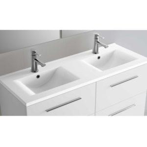 Vasque IBERIA 1200 double EN PORCELAINE BLANCHE 1200 x 20 x 460 mm