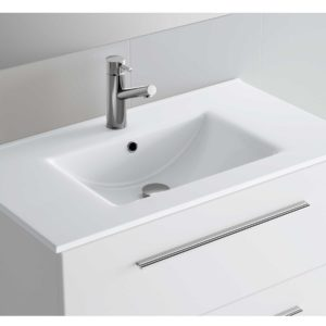 Vasque IBERIA 810 EN PORCELAINE BLANCHE 810 x 20 x 460 mm