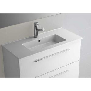 Vasque S35 610 EN PORCELAINE BLANCHE 610 x 20 x 360 mm