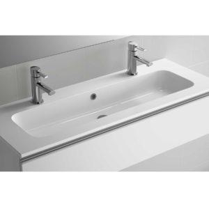 Vasque SOFIA 1205 un vasque et deux robinetMINERALMARMO 1205 x 15 x 460 mm