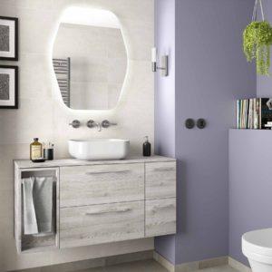 Vasque à poser DOLCE 390 EN PORCELAINE BLANCHE 390 x 140 mm