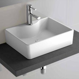 Vasque à poser EMOTION EN PORCELAINE BLANCHE 480 x 130 x 370 mm