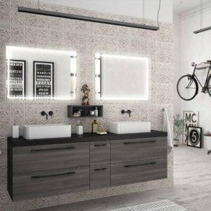 Vasque à poser SENSATION EN PORCELAINE BLANCHE 485 x 128 x 297 mm