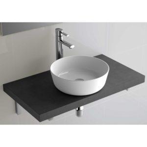 Vasque à poser Ultra-fine DESIR EN PORCELAINE BLANCHE 380 x 380 x 140 mm