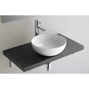 Vasque à poser Ultra-fine SEDUCTION EN PORCELAINE BLANCHE 390 x 390 x 150 mm