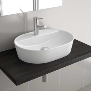 Vasque à poser VARMEGA 515 EN PORCELAINE BLANCHE 500 x 385 x 120 mm